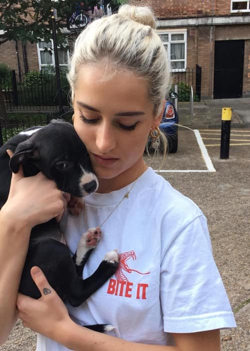Genevieve Garner with a dog
