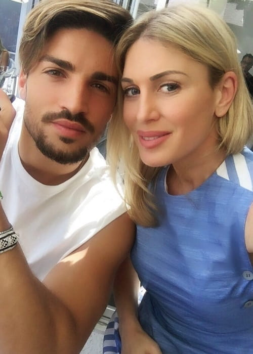 Hofit Golan and Mariano Di Vaio as seen in April 2017