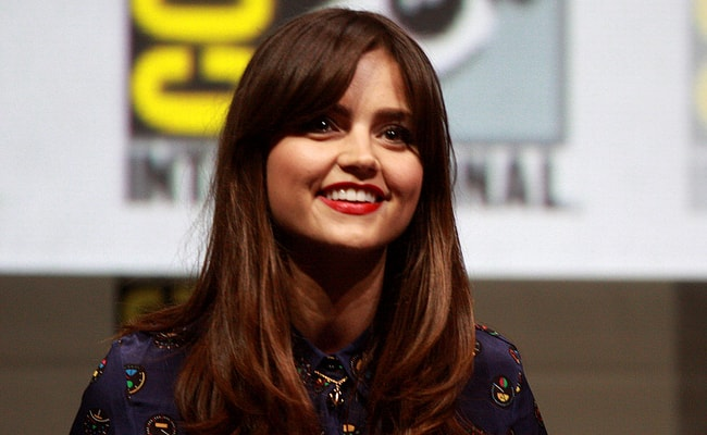 Jenna Coleman speaking at the 2013 San Diego Comic Con