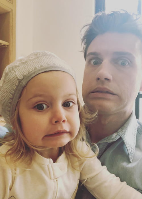 Jeremiah Brent with his daughter in November 2017