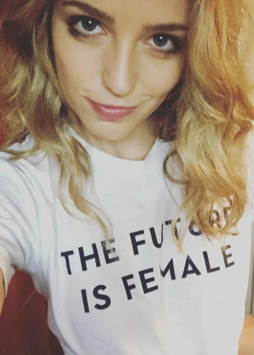 Jessica Rothe in a selfie as seen in November 2016