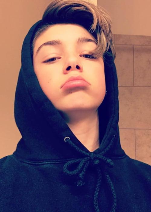 Joey Birlem in a selfie in January 2017