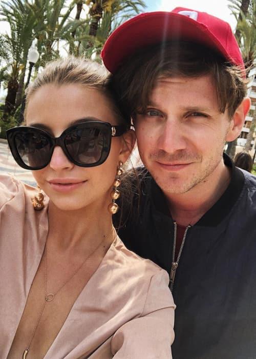 Julia Wieniawa and Antek Królikowski in a selfie in May 2018