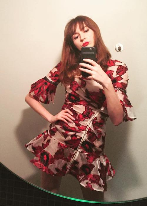 Karen Gillan selfie in September 2017