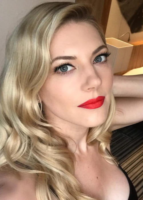 Katheryn Winnick in an Instagram selfie as seen in May 2018