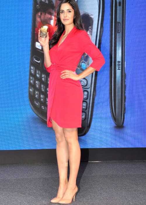Katrina Kaif unveiling Blackberry curve in June 2012