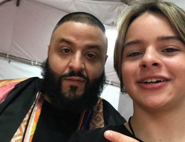 Mace Coronel (Right) and DJ Khaled in a selfie in March 2017