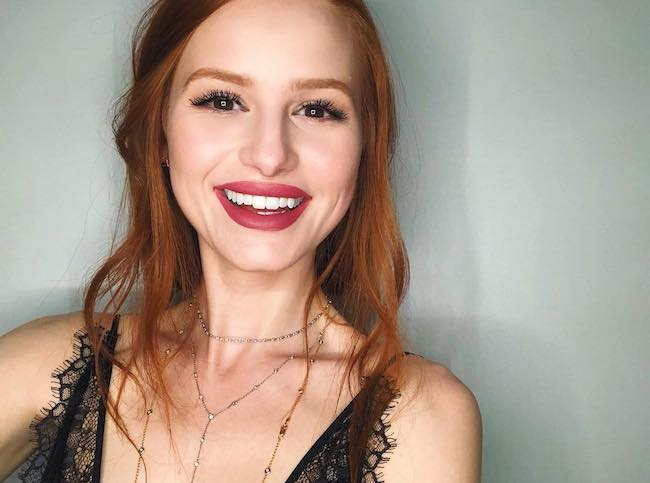 Madelaine Petsch showing her dimpled smile in February 2018