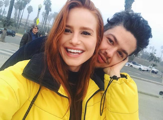 Madelaine Petsch with her boyfriend Travis Mills in January 2018