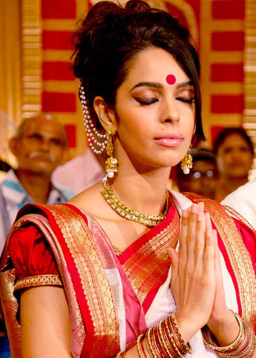 Mallika Sherawat as seen on Dussehra in October 2013