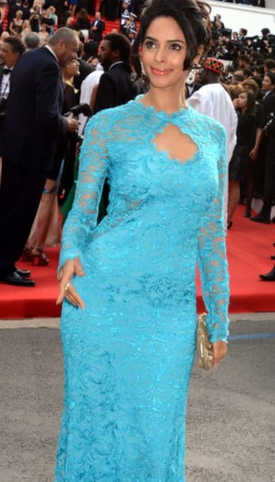 Mallika Sherawat at the Cannes Film Festival in May 2014