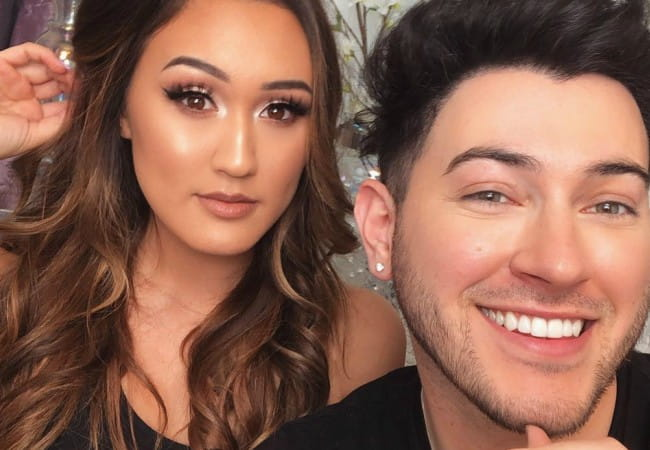 Manny MUA and Lauren Riihimaki as seen in January 2018