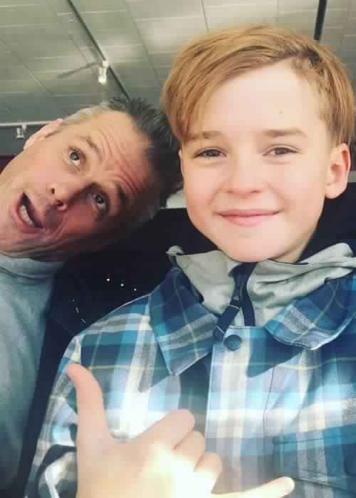 Maxwell Jenkins (Right) in a selfie with his dad in January 2018