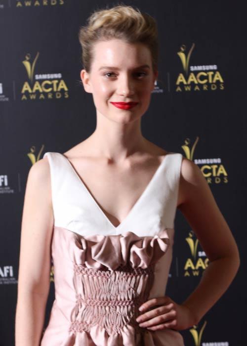 Mia Wasikowska during the Samsung AACTA Awards 2012 in Australia
