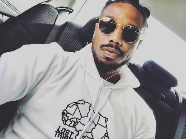 Michael B. Jordan in an April 2017 selfie