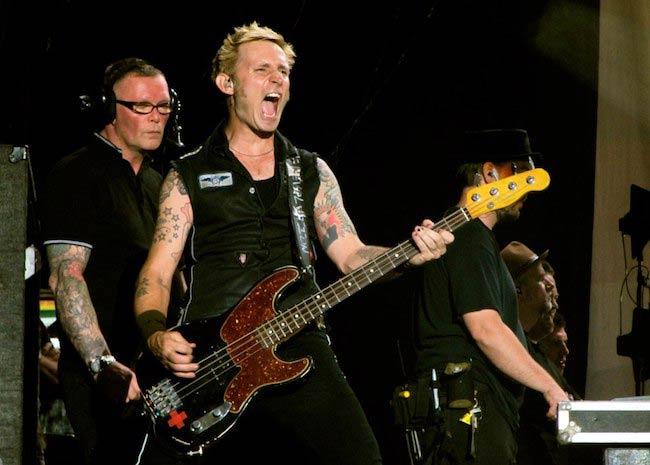Mike Dirnt of Green Day performing in Caracas Venezuela in 2010