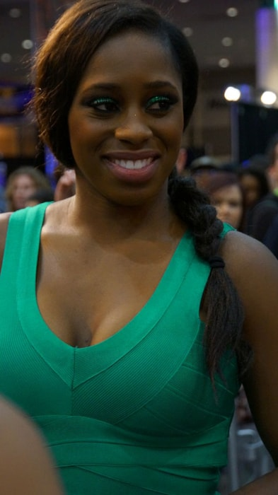 Naomi at WWE's Wrestle Mania Axxess in April 2014