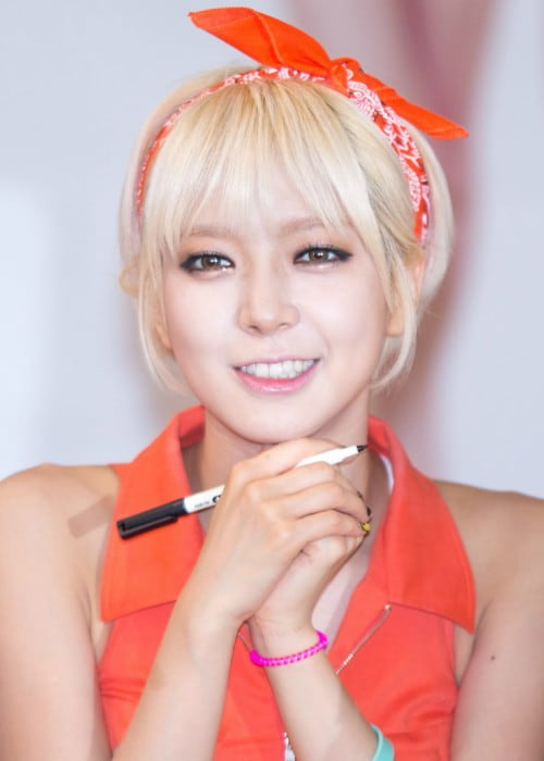 Park Cho-a at a fansigning event in June 2014