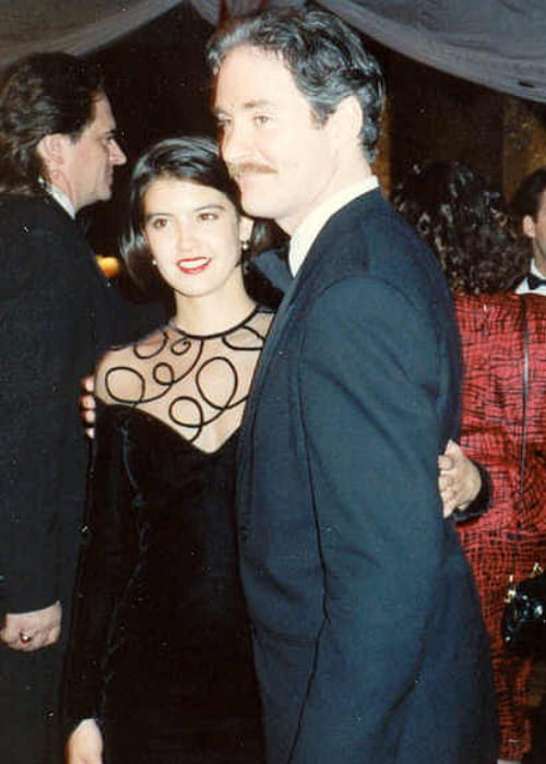 Phoebe Cates and Kevin Kline at the Governor's Ball party in March 1989