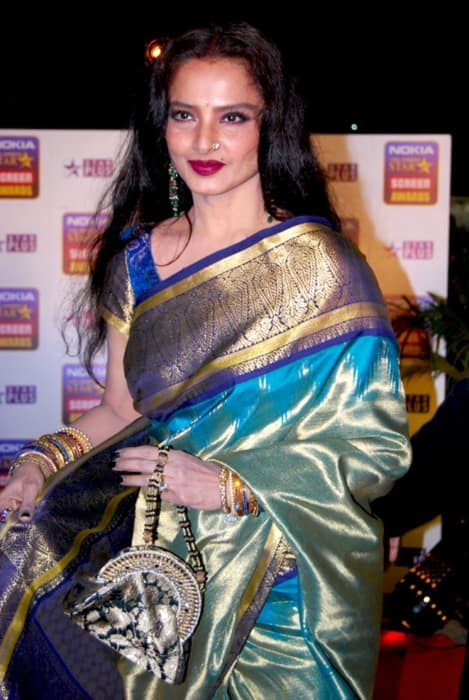 Rekha at the 14th Annual Star Screen Awards in January 2008