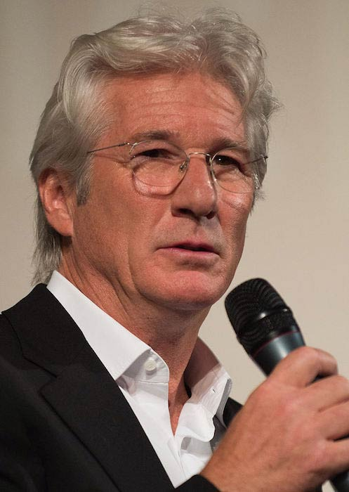 Richard Gere receiving the Golden Icon Award in 2012