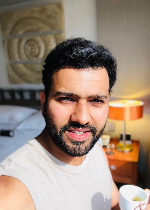 Rohit Sharma having Nespresso during the afternoon time in February 2018