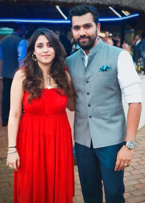 Rohit Sharma with wife Ritika Sajdeh in January 2018
