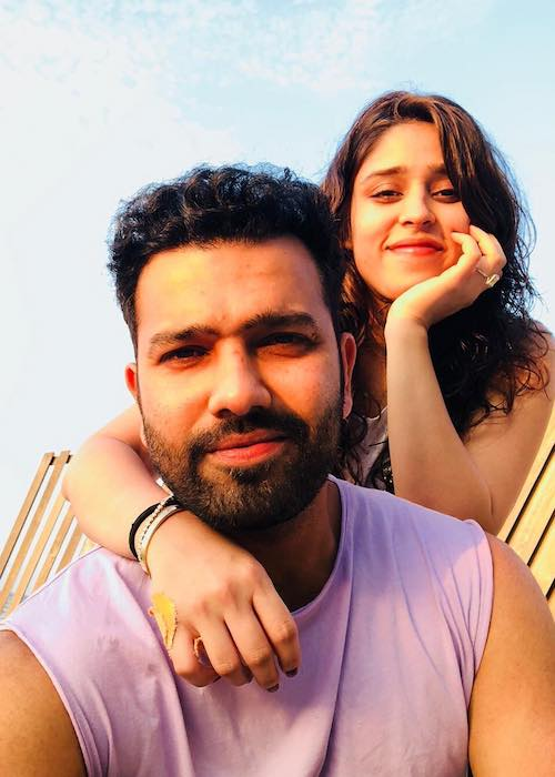 Rohit Sharma with wife Ritika Sajdeh in March 2018
