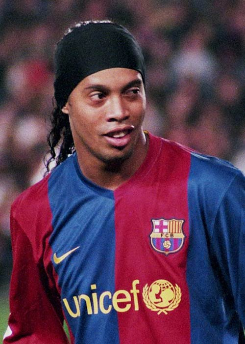 Ronaldinho (FC Barcelona's player) during the match in 2007
