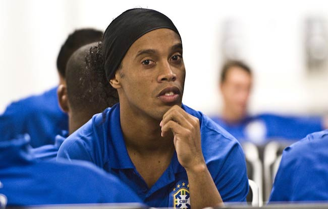 Ronaldinho as seen in Lima, Peru in 2007