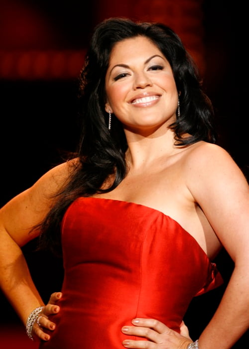 Sara Ramirez at The Heart Truth Fashion Show in January 2008