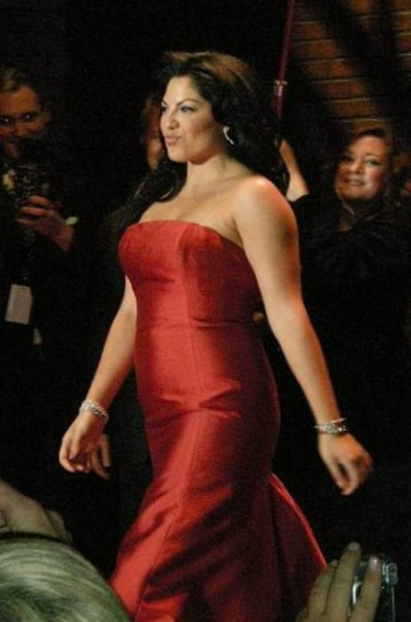 Sara Ramirez at the Red Dress Collection charity fashion show in 2008