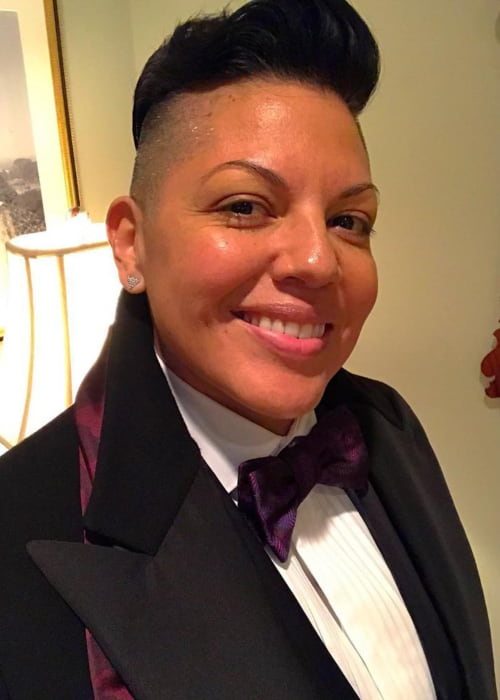 Sara Ramirez in a selfie in January 2018
