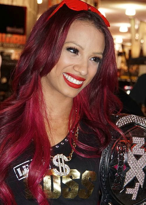 Sasha Banks at WWE's WrestleMania 31 Axxess in March 2015