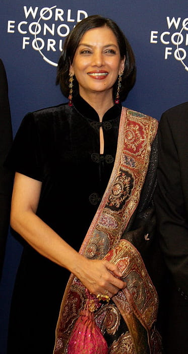 Shabana Azmi at the 2006 World Economic Forum in Davos