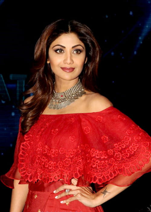 Shilpa Shetty on the sets of Indian Idol in March 2017