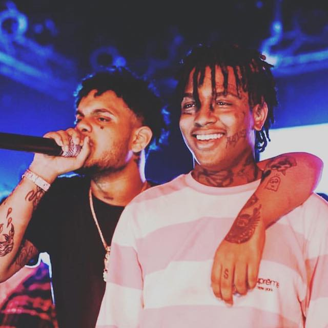 Ski Mask the Slump God with Smokepurpp singing in February 2018