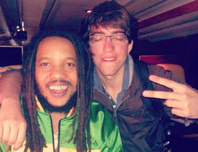 Stephen Marley (Left) and Guillaume Simonin as seen in December 2013