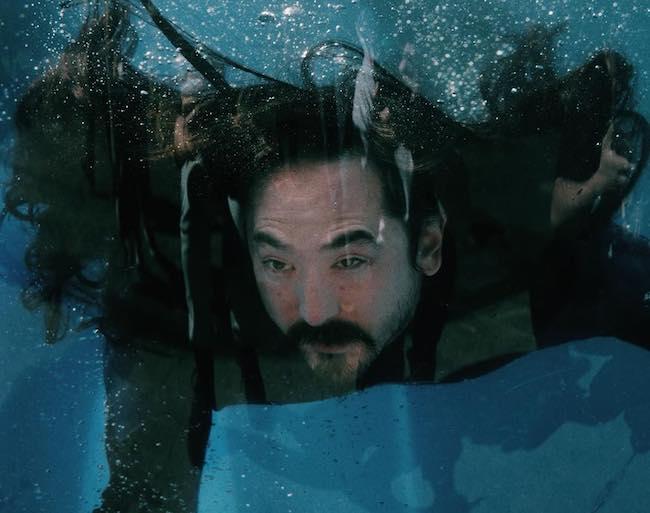Steve Aoki underwater as seen in April 2018