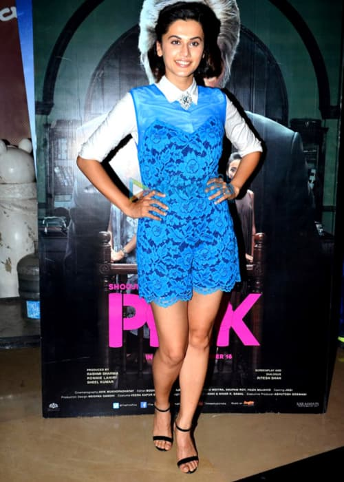 Taapsee Pannu at the special screening of Pink in September 2016