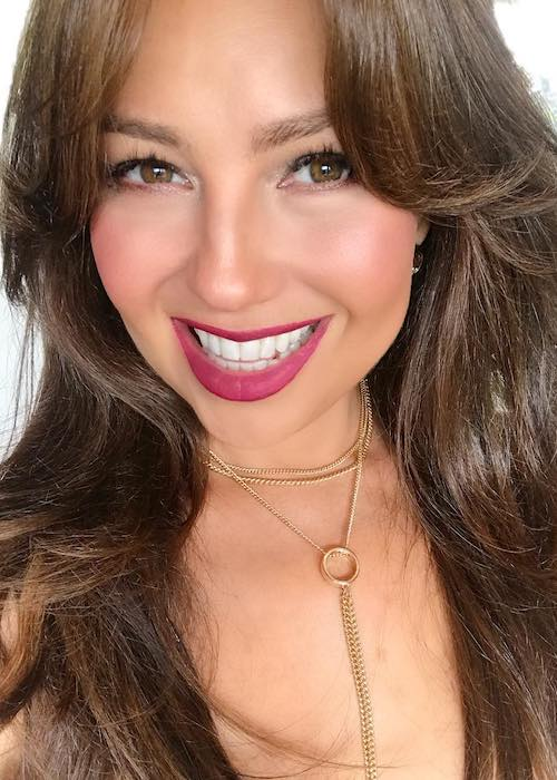 Thalía smiling in a July 2017 selfie