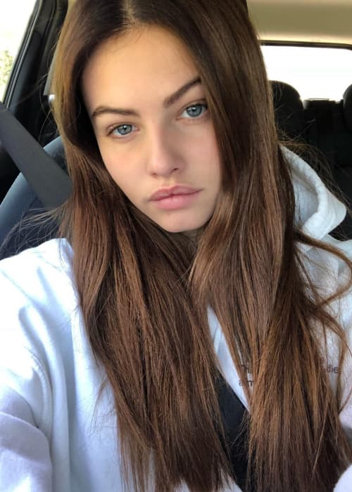 Thylane Blondeau in a selfie in May 2018