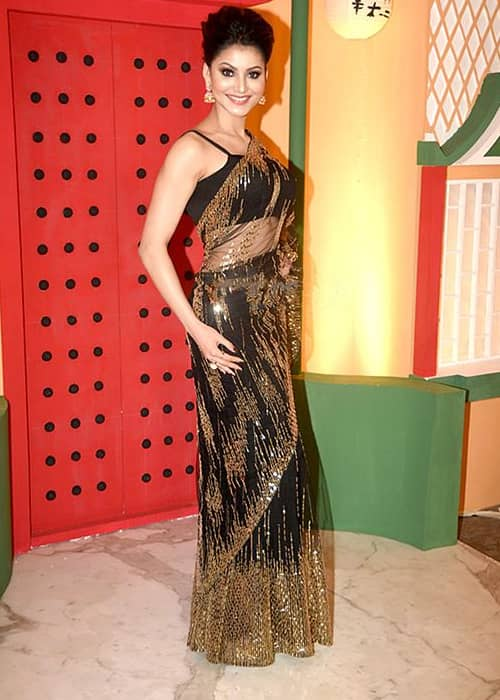 Urvashi Rautela at Sachin Joshi's Diwali bash in 2016