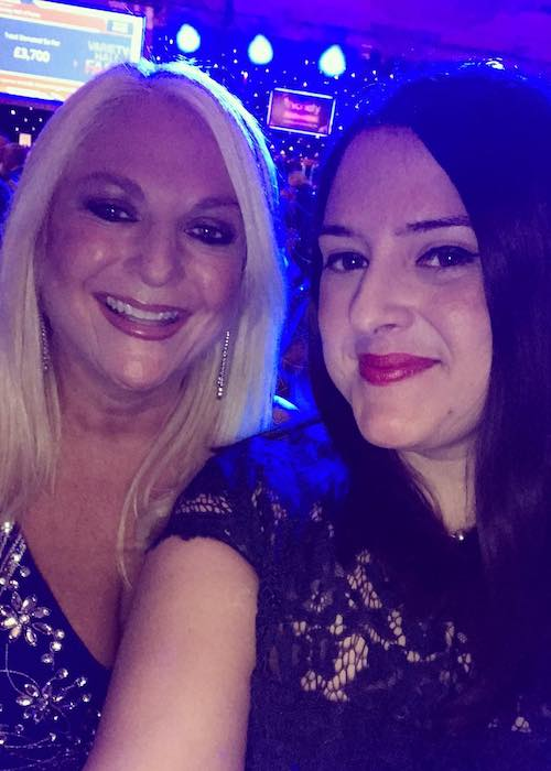 Vanessa Feltz in a fan picture at London Hilton on Park Lane in October 2016