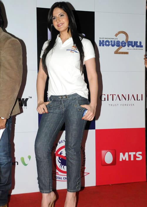 Zareen Khan at the special charity screening of Housefull 2 in April 2012