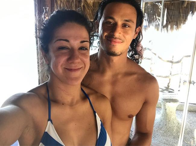 Aaron Solow and Bayley on May 19, 2017