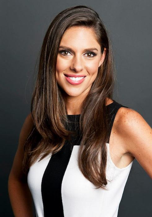 Abby Huntsman posing for HuffPost Live in 2012