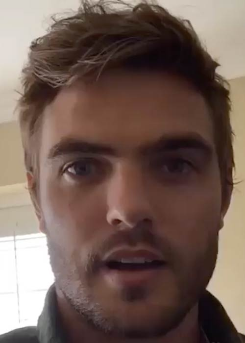 Alex Roe talking about #MakeWaves in a January 2016 video