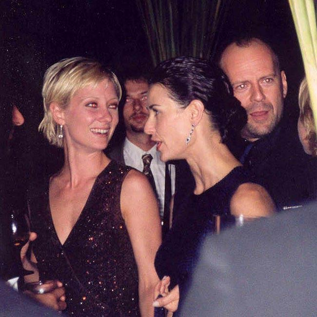 Anne Heche, Demi Moore, and Bruce Willis at 1997 Emmy Awards