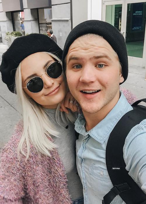 Aspyn Ovard and Parker Ferris in an Instagram pic in October 2017